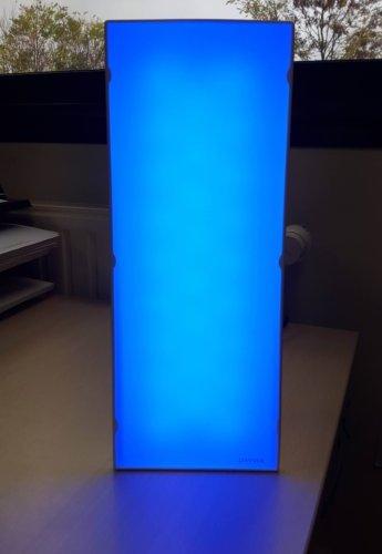 Lampe Dayvia luminotherapie eclairage en lumiere bleue turquoise